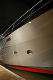 Side view of luxury yacht at night Royalty Free Stock Images
