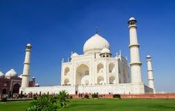 Taji mahal. Side view of the magnificient taj mahal. Agra, India. A representation of love royalty free stock photo