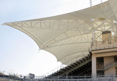 Side view of Main grandstand in BIC Royalty Free Stock Image