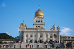 Side view of the main Gurudwara Sikh Temple In India. Royalty Free Stock Images