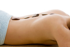 Side view of  man lying down for spa treatment Stock Photo