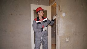 Man doing renovation in apartment