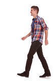 Side view of man walking Royalty Free Stock Photography