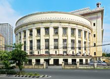 Side view of the Manila Central Post Office building royalty free stock images