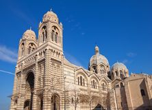 Side view of Marseilles Cathedral (XIX c.) Royalty Free Stock Photography
