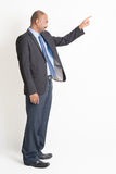 Side view mature Indian businessman pointing Stock Image