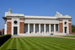 Side View of the Menin Gate in Ypres Royalty Free Stock Photo