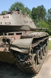 Side view of military tank. An old military tank, side view Stock Photos