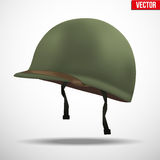 Side view of Military US helmet M1 WWII Royalty Free Stock Photography