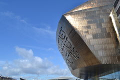 Side view of Millennium Centre, Wales Royalty Free Stock Photos