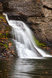 Side View of Mine Kill Falls. Located in New York stock images
