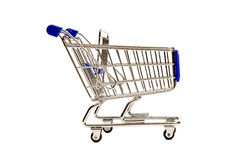 Side View of a Miniature Shopping Cart XXXL Stock Photo