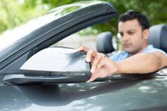 Side view mirror traffic Royalty Free Stock Photography