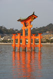 Side View Of Miyajima Torii at Sunset Royalty Free Stock Photo