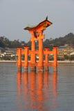 Side View Of Miyajima Torii at Sunset Royalty Free Stock Photo