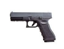 Side view of modern automatic handgun Stock Photography