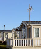 Modern caravans in trailer park Royalty Free Stock Photography