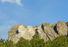Mount Rushmore side view royalty free stock photography