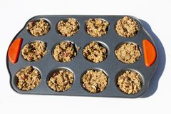 Uncooked Muffin Mixture stock photography