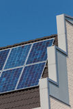 Side view of a newly build house with solar panels Royalty Free Stock Image