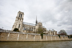 Side View of Notre Dame Royalty Free Stock Image