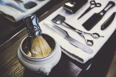 Side View Of A Shaving Kit Royalty Free Stock Photo