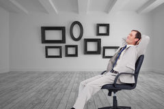 Free Side View Of Businessman Leaning Back In His Chair Stock Photography - 37170782