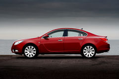 Free Side View Of Cherry Red Car Stock Photos - 8649943