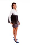 Side View Of Young Professional Holding Bag Stock Images