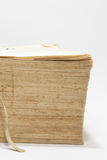 Side view of old book with yellow pages Royalty Free Stock Images