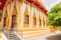 Side view Old Buddhist Church of Prathong temple or Pra-pood temple at Phuket, Thailand Royalty Free Stock Photography