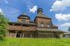 Side view of the Old Church. Monument of architecture of 16-17 centuries. West Ukraine. Summer royalty free stock photography