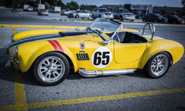 side view of old race sport vintage retro classic car Royalty Free Stock Photos