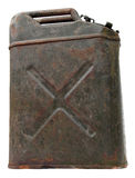 Side view of an old rusty jerrycan Royalty Free Stock Images