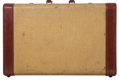 Side view of an old suitcase for a background Royalty Free Stock Images