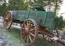 Side view of an old wagon. Stock Photos