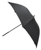 Side view of open black large umbrella stock photography