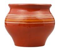 Side view of open earthenware pot Stock Photos