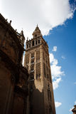 Side view of the ornate Cathedral bell tower Royalty Free Stock Photography
