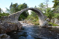 Side view of Packhorse Bridge Carrbridge Royalty Free Stock Photos