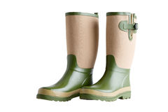 Side view of a pair of stylish garden boots Stock Photo