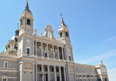 Side view of Palacio Real. Madrid Royalty Free Stock Image