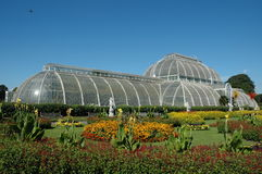Side view of the palm house at Kew Gardens stock photos