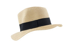Side view panama hat isolated on white background Royalty Free Stock Photos