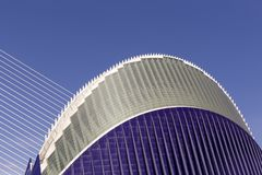 City of Arts and Sciences, partial view of the agora. Side view of a part of the Agora in the City of Arts and Sciences, Valencia, Spain Stock Photography