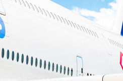 Side view of passenger plane. stock images