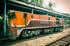 Railway in Burma royalty free stock photography