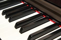 Side view  of piano key Stock Image