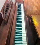 Side View of Piano. S from Church with exposed keys Royalty Free Stock Photos