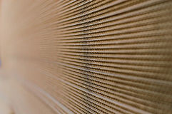 Side View of  a Pile of Cardboard Royalty Free Stock Photo